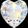 Swarovski 4827 Large Heart Shaped Fancy Stone Crystal AB 28mm