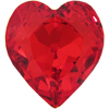 Swarovski 4831 Antique Heart Fancy Stone Light Siam 11x10mm