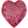 Swarovski 4800 Heart Fancy Stone Rose 11x10mm