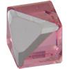Swarovski 4841 Cut Corner Cube Fancy Stone Rose Comet Argent Light (CAL VZ) 6mm