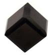 Swarovski 4841 Cut Corner Cube Fancy Stone Jet Unfoiled 4mm