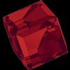 Swarovski 4841 Cut Corner Cube Fancy Stone Light Siam Comet Argent Light (CAL VZ) 6mm