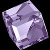 Swarovski 4841 Cut Corner Cube Fancy Stone Violet Comet Argent Light (CAL VZ) 4mm
