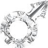 Swarovski 4878 Male Symbol Fancy Stone Crystal 30x19mm
