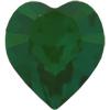 Swarovski 4884 Xilion Heart Fancy Stone Emerald 5.5x5mm