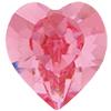 Swarovski 4884 Xilion Heart Fancy Stone Light Rose 5.5x5mm