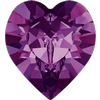 Swarovski 4884 Xilion Heart Fancy Stone Amethyst 5.5x5mm