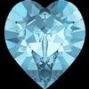Swarovski 4884 Xilion Heart Fancy Stone Aquamarine 6.6x6mm