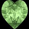 Swarovski 4884 Xilion Heart Fancy Stone Peridot 5.5x5mm