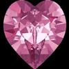 Swarovski 4884 Xilion Heart Fancy Stone Rose 8.8x8mm