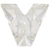 Swarovski 4889 Letter Shaped Fancy Stone Crystal (Letter V) 8mm