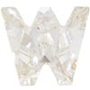 Swarovski 4889 Letter Shaped Fancy Stone Crystal (Letter W) 8mm