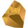 Swarovski 4923 Kaputt Fancy Stone Crystal Dorado 38x33mm