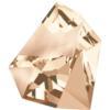 Swarovski 4923 Kaputt Fancy Stone Crystal Golden Shadow 38x33mm