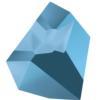 Swarovski 4923 Kaputt Fancy Stone Crystal Metallic Blue 38x33mm