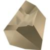 Swarovski 4923 Kaputt Fancy Stone Crystal Metallic Light Gold 28x24mm