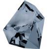 Swarovski 4923 Kaputt Fancy Stone Crystal Silver Night 28x24mm