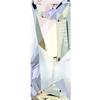 Swarovski 4924 Kaputt Baguette Fancy Stone with Logo Crystal AB 23x9mm