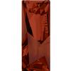 Swarovski 4924 Kaputt Baguette Fancy Stone with Logo Crystal Red Magma 23x9mm