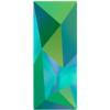 Swarovski 4925 Kaputt Baquette Fancy Stone Crystal Scarabaeus Green 23x9mm
