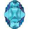 Swarovski 4926 Oval Tribe Fancy Stone Aquamarine Metallic Blue 14x10mm