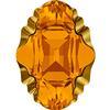 Swarovski 4926 Oval Tribe Fancy Stone Topaz Dorado 14x10mm