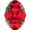 Swarovski 4926 Oval Tribe Fancy Stone Light Siam Metallic Light Gold 14x10mm