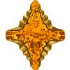 Swarovski 4927 Rhombus Tribe Fancy Stone Topaz Dorado 14x12mm
