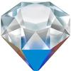 Swarovski 4928 Tilted Chaton Fancy Stone Crystal Bermuda Metallic Blue 12mm