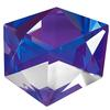 Swarovski 4933 Tilted Dice Fancy Stone Crystal Purple 19mm