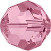 Dreamtime Crystal DC 5000 Beads Round Light Rose 8mm