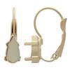 10x5mm Teardrop for Swarovski 4322 Leverback Earring Bases-Rose Gold Matte