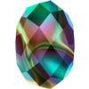 Swarovski 5040 Briolette Bead Crystal Rainbow Dark 2X 8mm
