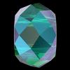 Swarovski 5042 Briolette XL Hole Bead Emerald Shimmer 2x 6mm