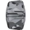 Swarovski 5045 Rondelle Bead Crystal Silver Night 4mm