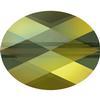 Swarovski 5051 Mini Oval Bead Crystal Iridescent Green 10x8mm