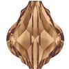 Swarovski 5058 Baroque Bead Light Smoked Topaz 14mm