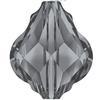 Swarovski 5058 Baroque Bead Crystal Silver Night 10mm