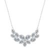 Swarovski Collection Rhodium Plated Leaf Shaped Crystal Necklace with Hint of Blue