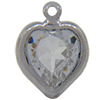 Swarovski 52200 Heart Channel Link Charm in Crystal/Rhodium