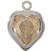 Swarovski 52200 Heart Channel Link Charm in Golden Shadow/Rhodium
