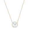 Swarovski Collection Rose Gold Plated Crystal Cut Necklace