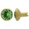 Swarovski 53001 Crystal Rivets SS29 Peridot/Gold