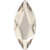 Swarovski 2201 Marquise (Navette) Flat Back Crystal Silver Shade 8x3.5mm