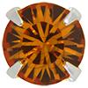Swarovski 53201 Chaton Montees ss18 Topaz