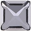 Swarovski 53503 Square Spike Rivets 10mm Chrome/Silver