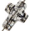 Swarovski 5378 Cross Bead Crystal Black Patina 14mm