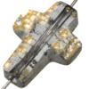 Swarovski 5378 Cross Bead Crystal Gold Patina 14mm