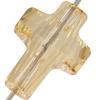 Swarovski 5378 Cross Bead Crystal Golden Shadow 14mm