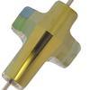 Swarovski 5378 Cross Bead Crystal Iridescent Green 14mm